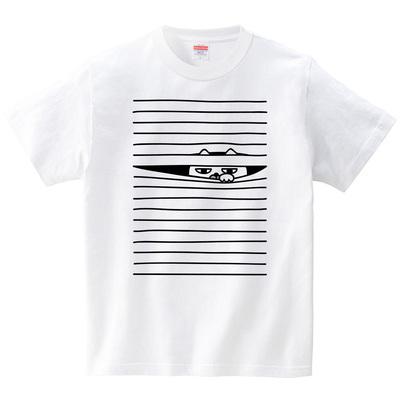 ブラインドから猫(Tシャツ・ホワイト)(オワリ)
