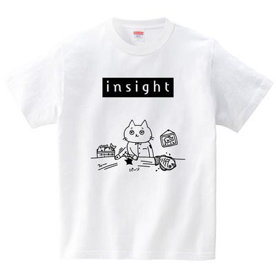 違いの分かるネコ(Tシャツ・ホワイト)(オワリ)