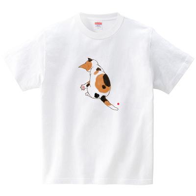 三毛猫みぃ(Tシャツ・ホワイト)(naomiakimoto)