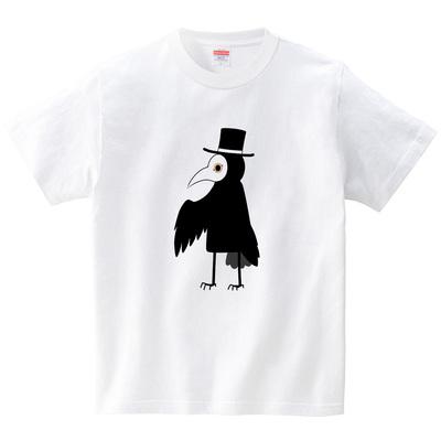 鳥紳士(Tシャツ・ホワイト)(シキセヒロ)