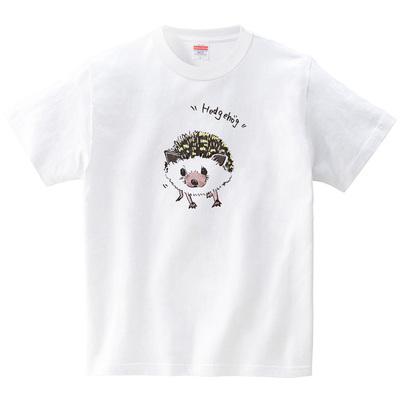 ハリネズミ(Tシャツ・ホワイト)(SUMIRE)