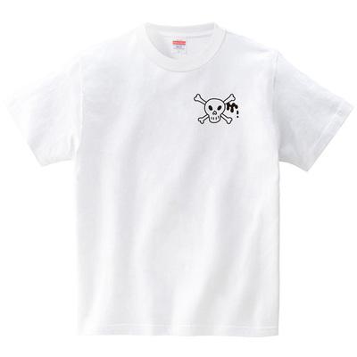ハテナポップ ドクロ2(Tシャツ・ホワイト)(tsukamotojunko)