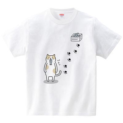 ハテナポップ ねこじろう1(Tシャツ・ホワイト)(tsukamotojunko)