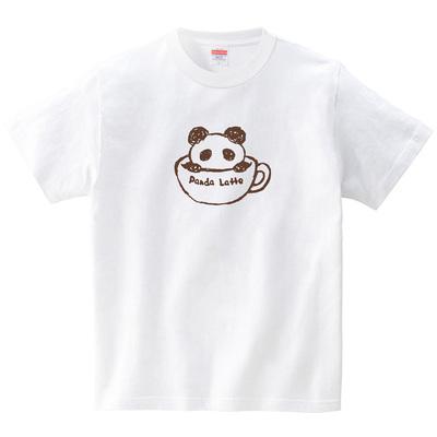 パンダラテ(Tシャツ・ホワイト)(あずき*)