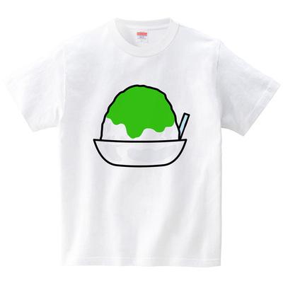 ひんやりかき氷めろん(Tシャツ・ホワイト)(あいはらせと)