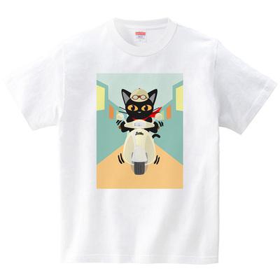 街乗り(Tシャツ・ホワイト)(BATKEI)