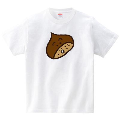 栗オヤジ(Tシャツ・ホワイト)(HSMT design)