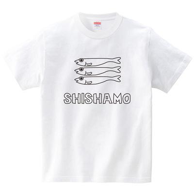 ししゃもちゃん(Tシャツ・ホワイト)(CHATON_CATON_T)