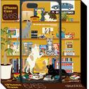 猫とシェルフ (iPhone6 ケース) QUATRE ILLUSTRATION