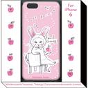 うさぎ帽猫さんiphone6ケース(ピンク)